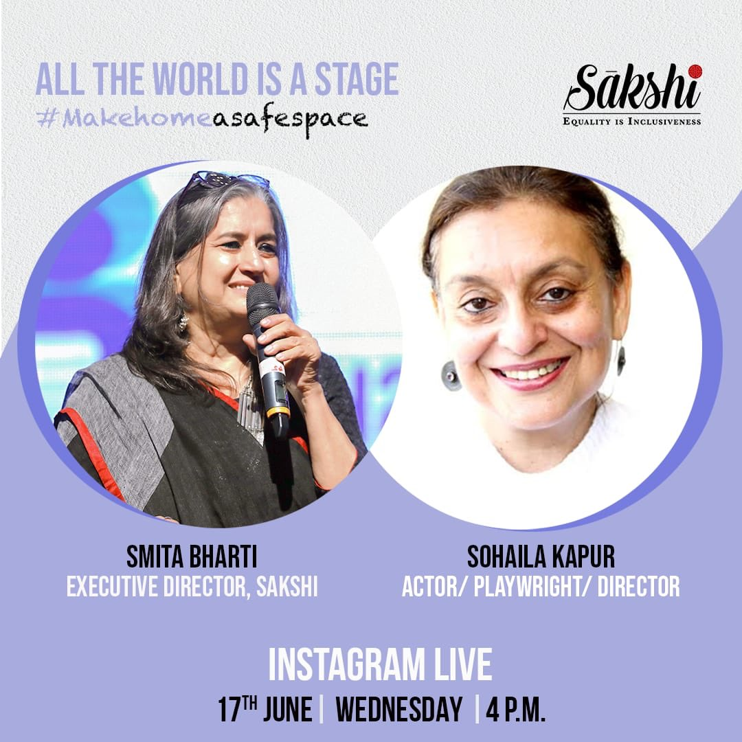 Catch these two theatre makers #SmitaBharti & #SohailaKapur this afternoon on an Instagram LIVE on our page, talking about Life and its dramatics. Tune in at 4:00PM