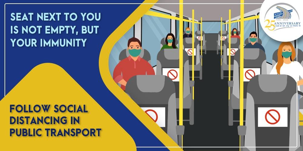 Practice social distancing wherever you go! #NHAI #SocialDistancing #StaySafe https://t.co/QpmLeBpISP
