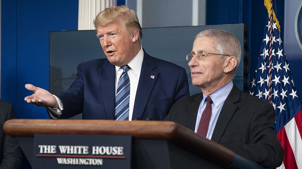Fauci says he hasn't talked with Trump in two weeks https://t.co/fvvtPom2UG https://t.co/04YcaQOR61