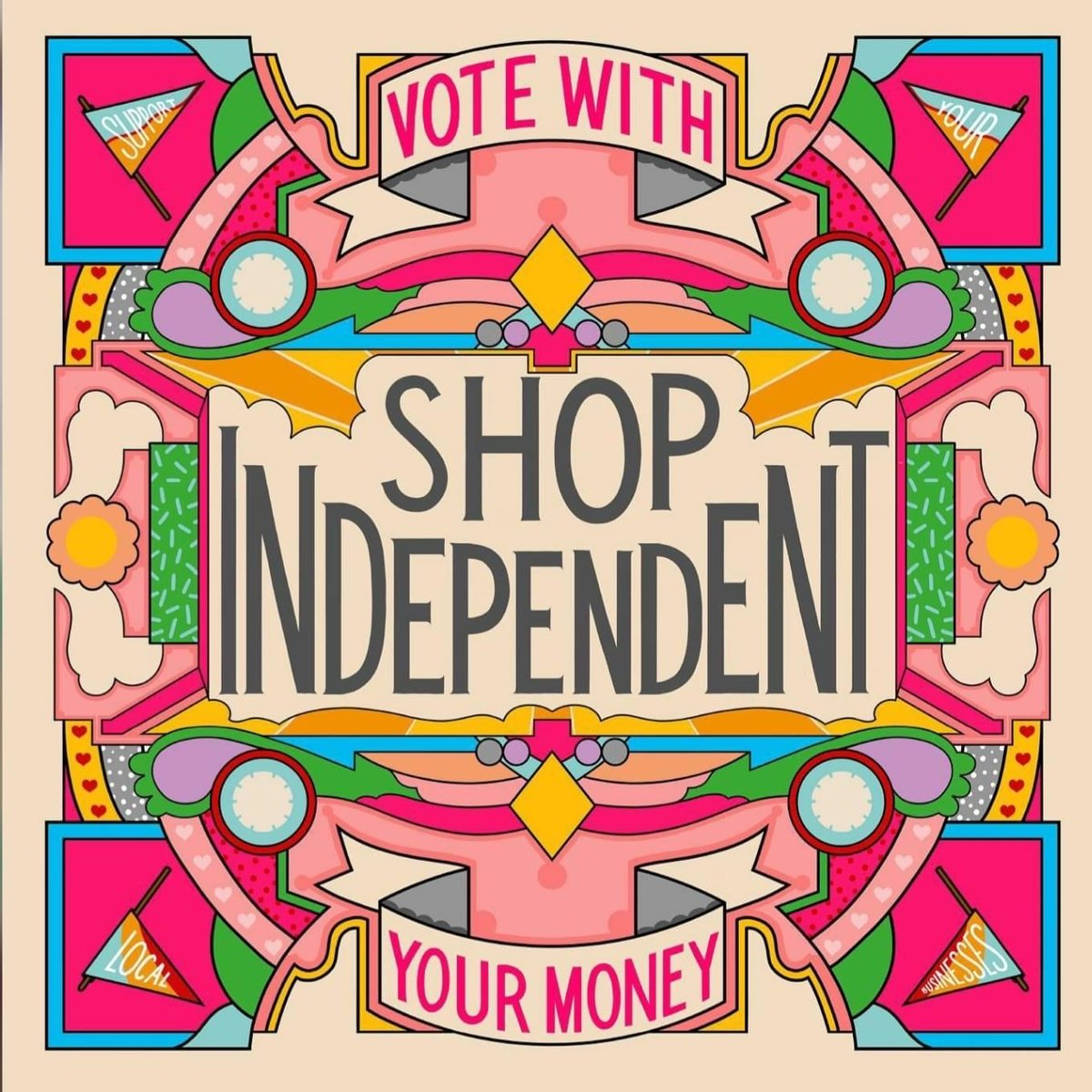 As the shops open please remember to support independent companies who need your help during this uncertain time 💜