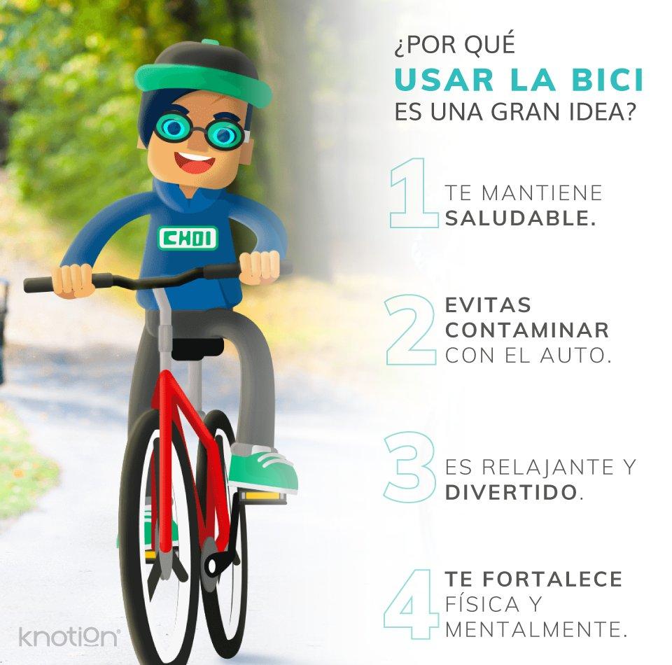Un pasatiempo divertido, bueno para ti y para el planeta, ¡es este!🚵♂️👌  Usar la #bicicleta frecuentemente para transportarnos es, definitivamente, una gran idea. 🚴♀️💁♀️  #SomosKnotion💙 #ecofriendly #Tips https://t.co/RV4oiSHvLJ