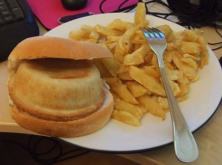 """What's For Dinner? on Twitter: """"Pie Butty and Chips… """""""