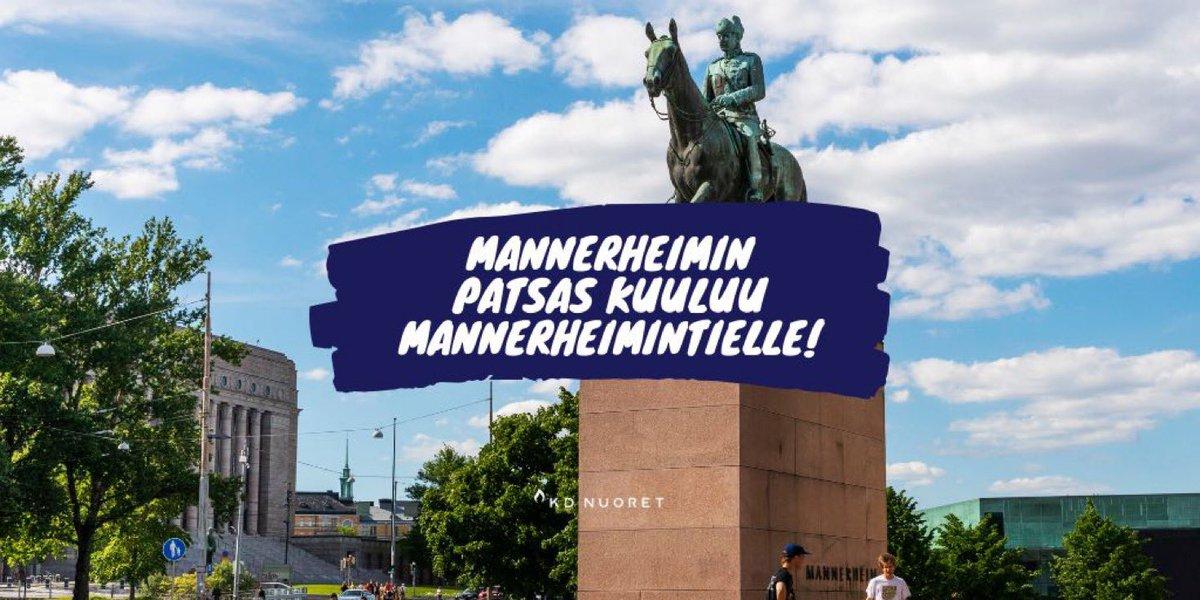 test Twitter Media - Mannerheimin patsas kuuluu Mannerheimintielle. Historiaa ei voida kirjoittaa uusiksi patsaita siirtelemällä.  Lue koko KD Nuorten ja @Kokoomusnuoret yhteiskannari täältä: https://t.co/aDfw5Dxkt4  #Mannerheim #patsasgate #KDNuoret #Kokoomusnuoret https://t.co/aecmMMGzWr