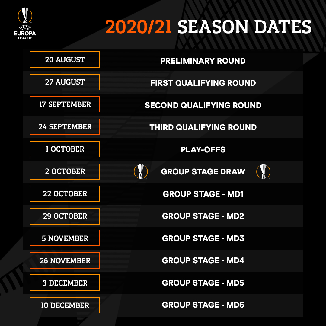uefa europa league on twitter here s how the 2020 21 uel season will kick off uefa europa league on twitter here