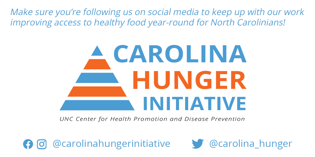 We're excited about this new initiative at HPDP. Follow @carolina_hunger to learn more about their work.
