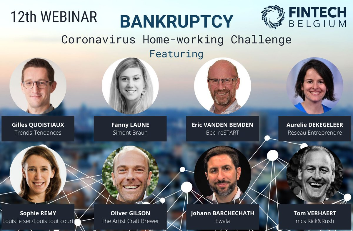 Join us this Friday at 14:00 for our next webinar on #Bankruptcy!   Come to listen to our great speakers from @redacTendances, @simontbraun, @BECI_Brussels and @re_bruxelles, and to some testimonials from 4 entrepreneurs.   Not registered yet? 😊  https://t.co/AmzeiAOG4p https://t.co/31dXSzjzxM