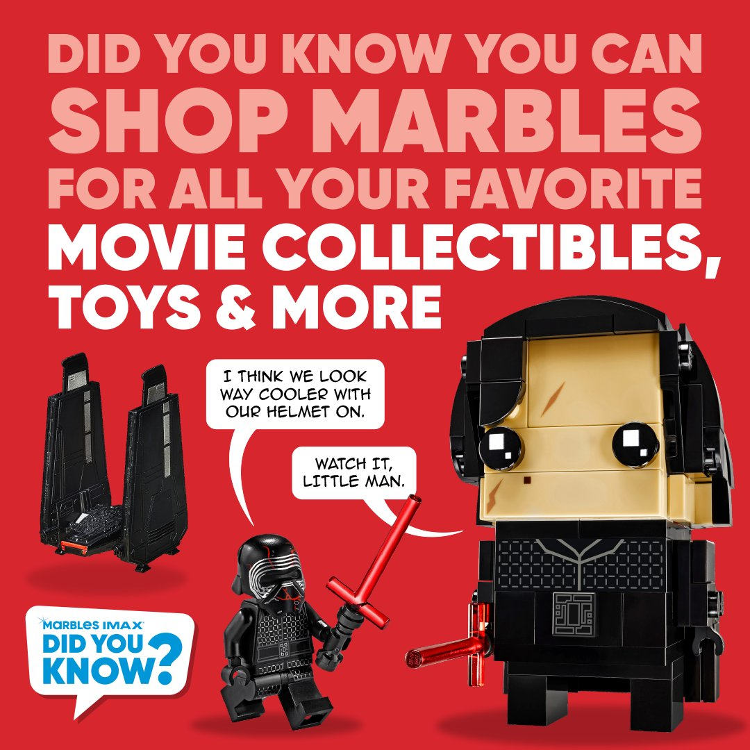Did you know that you can shop Marbles for all your favorite movie collectibles, toys and more? Bring home big screen play with characters from your favorite Marbles IMAX movies. Build, play, display or even make your own sequel.  Shop Marbles online now - https://t.co/G9lE06kFXD https://t.co/BKTwXhKqy6