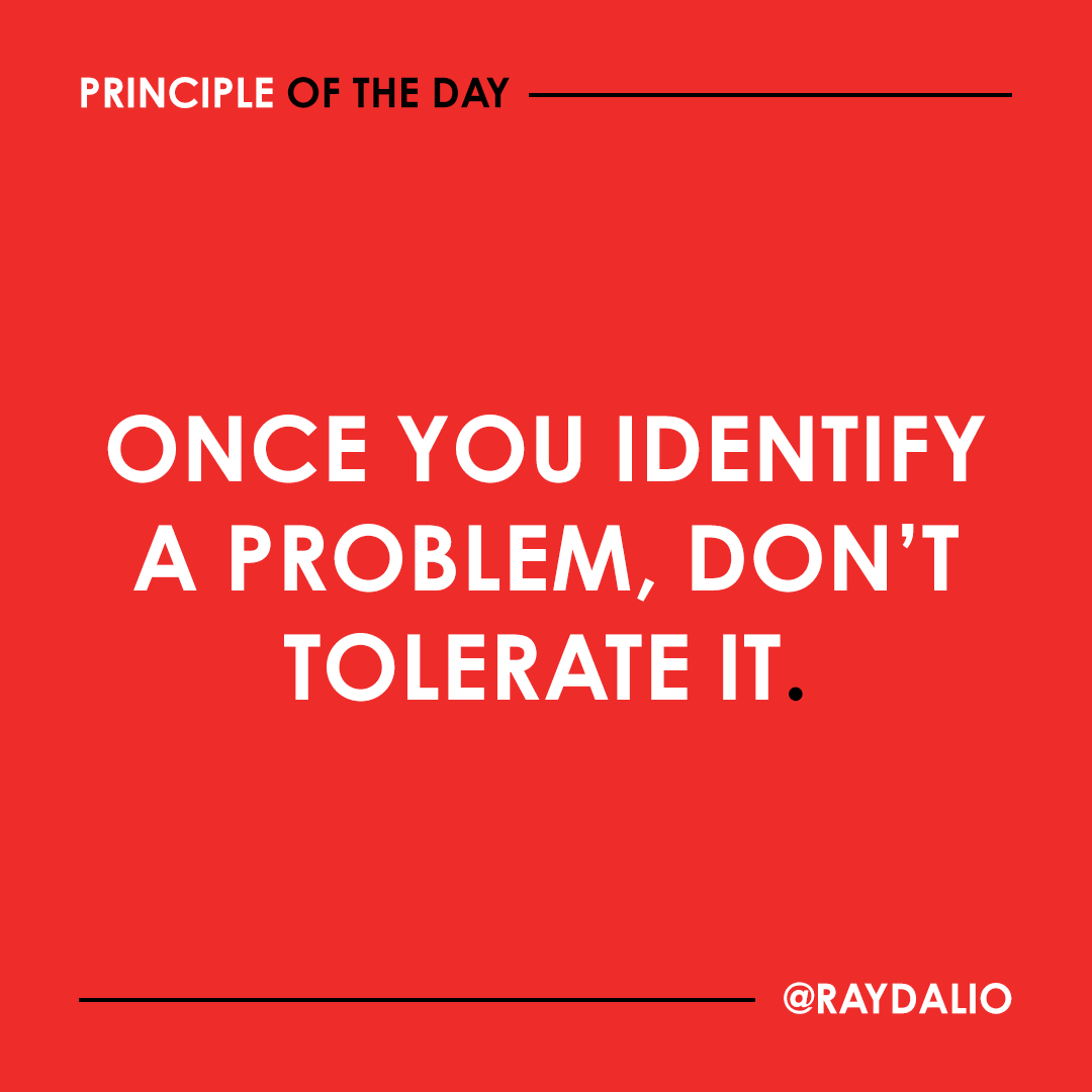Tolerating a problem has the same consequences as failing to identify it. #principleoftheday https://t.co/RhvVJr8XO2