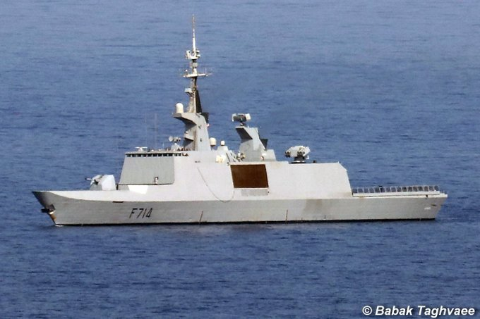 French frigate Guépratte (F-714) in Mediterranean Sea in May 2019. (Image by Babak Taghvaee)