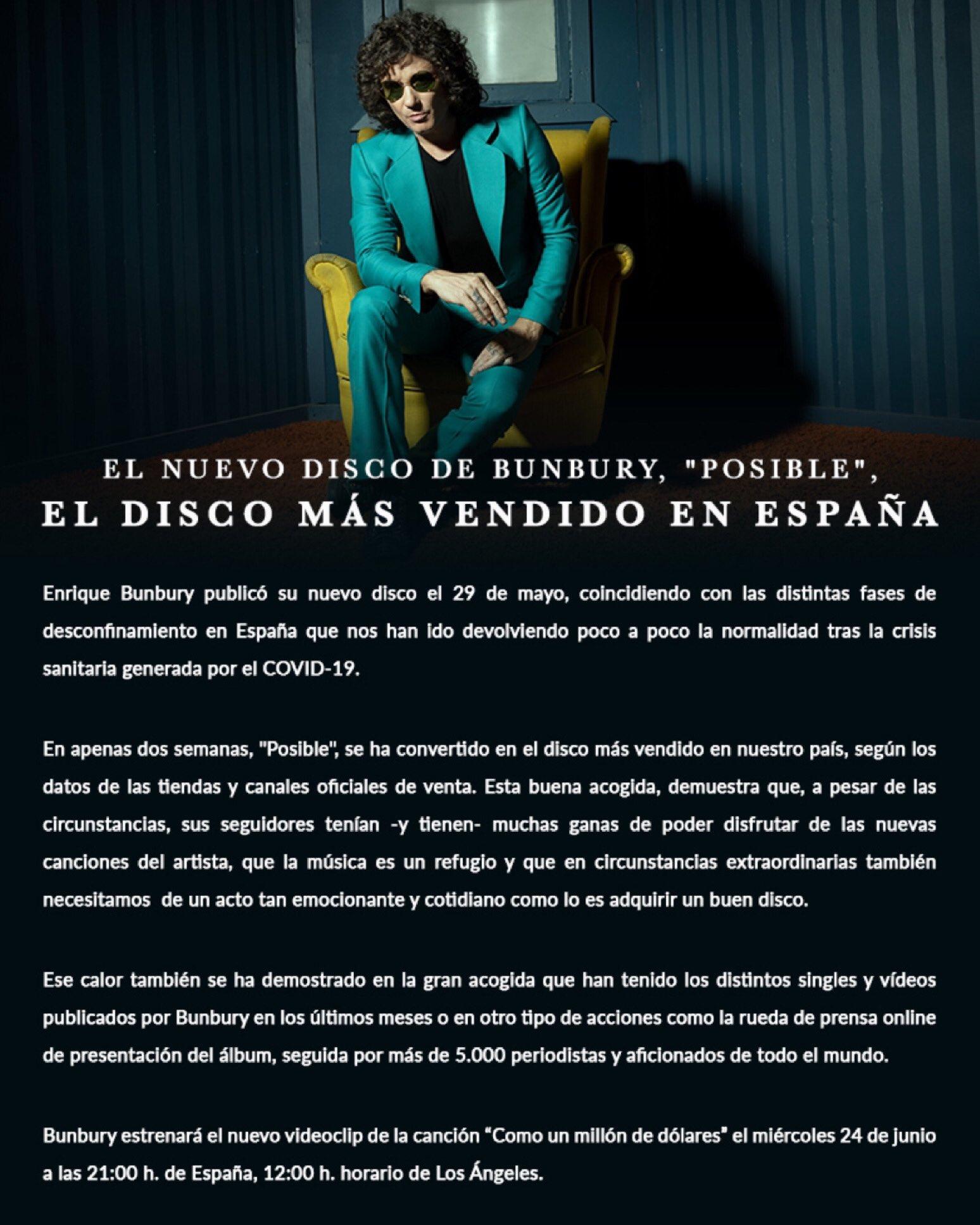 Enrique Bunbury auf Twitter