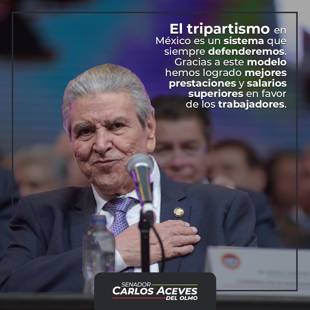 El tripartismo en México promovido por nuestra central, la @CTM_MX, llegó para quedarse porque sus resultados han sido espléndidos en favor de los trabajadores del país.   ¡Unidad y Trabajo! https://t.co/eiVmA1LTK1