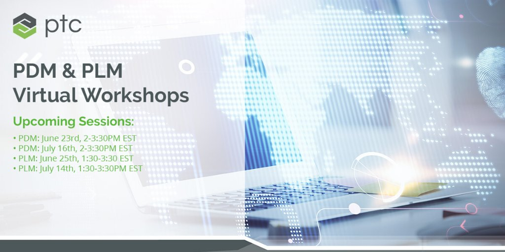 For a limited time, @PTC is offering online, interactive workshops designed to help you get to value quickly with your #PDM and #PLM software. Join us for one of these FREE sessions. https://t.co/Hkva0Jao9H https://t.co/mEkzD6aJ3N