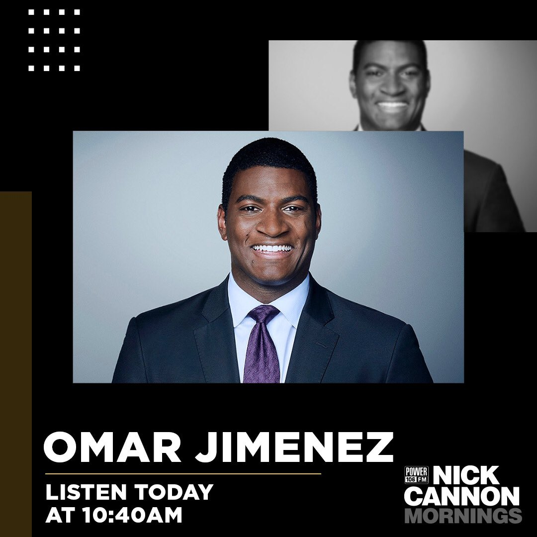 Tune in to @Power106LA , I'll be on live with Journalist @OmarJimenez at 10:40a. You can listen live at https://t.co/MvB16bXvek #NickCannonRadio #CannonConversation  #omarjimenez https://t.co/KvzNUAJ8R5