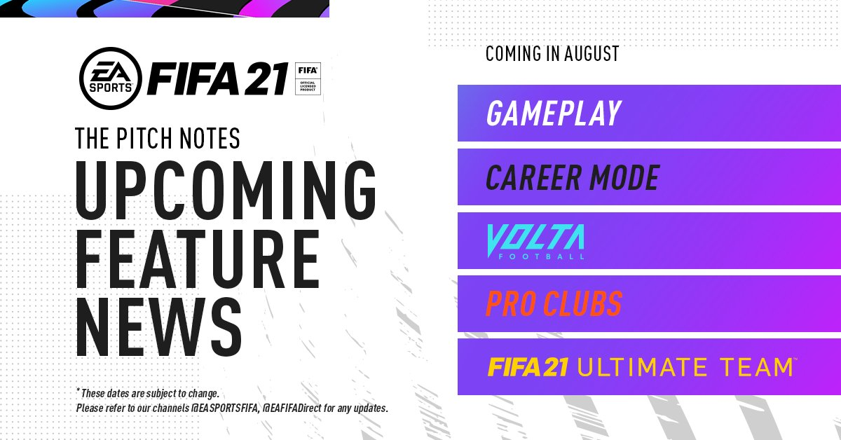 "EA SPORTS FIFA on Twitter: ""Check out the #FIFA21 reveal timeline ..."