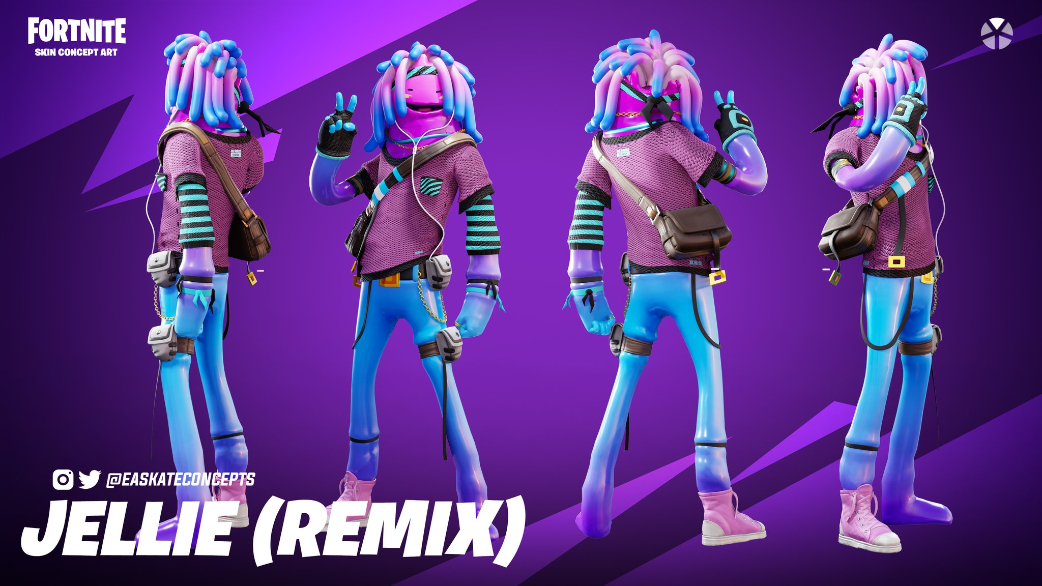 Ea On Twitter Introducing Remixed Jellie Been Itching To Go Back And Rework Some Of My Favourite Fortnite Skins With A Fresh Look Wanted To Start With Jellie Let Me Know What