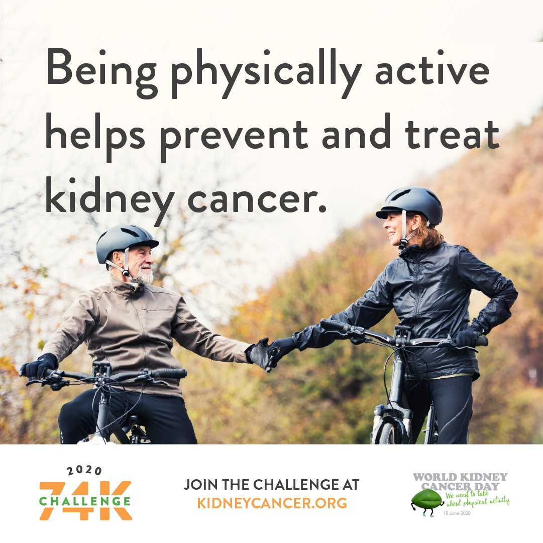 Kidney Cancer On Twitter Tomorrow Is Worldkidneycancerday Nearly 74k People Will Be Diagnosed This Year But Physical Activity Can Improve Outcomes Or Even Prevent Disease So It S Important To Get Moving Learn