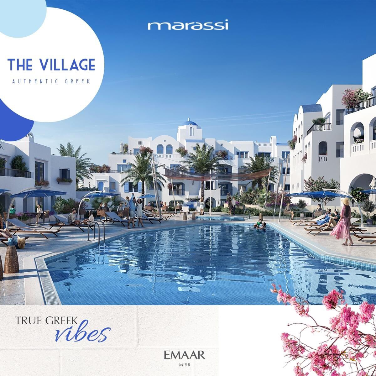 Walk care-free through charming alleyways and experience true Greek vibes at The Village.  Book your home now and enjoy complimentary air conditioners for a limited time only! #Emaar #EmaarMisr #Marassi #TheVillage https://t.co/iq93LIMYpR