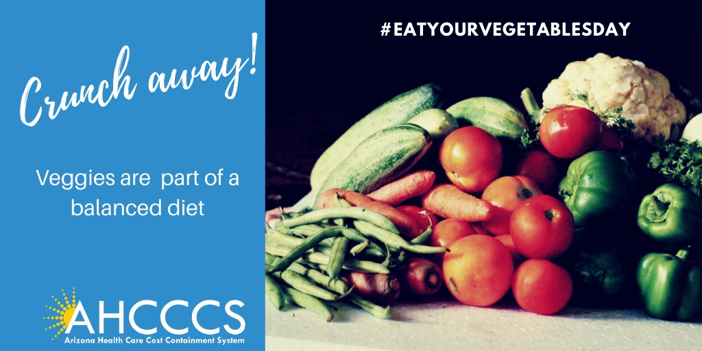 Everybody with a body needs plenty of vegetables every day. What's your favorite veggie? #EatYourVegetablesDay