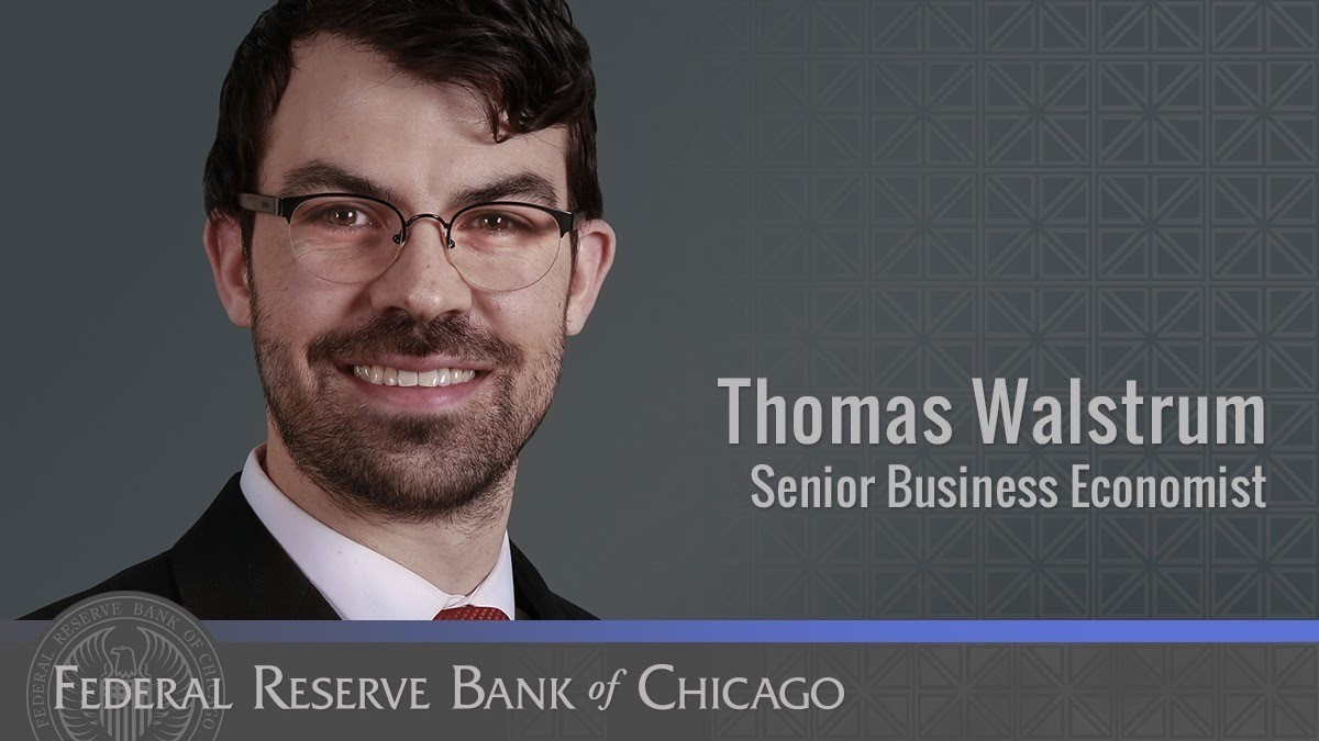 #FedFiles: Thomas Walstrum is a senior business economist. Thom is responsible for #data releases including the Chicago Fed Survey of Business Conditions. A recent survey, developed with Martin Lavelle, explored the effects of #COVID19 on the #CFSBC. https://t.co/9pwY9OztyK https://t.co/chSf7Q5i8T