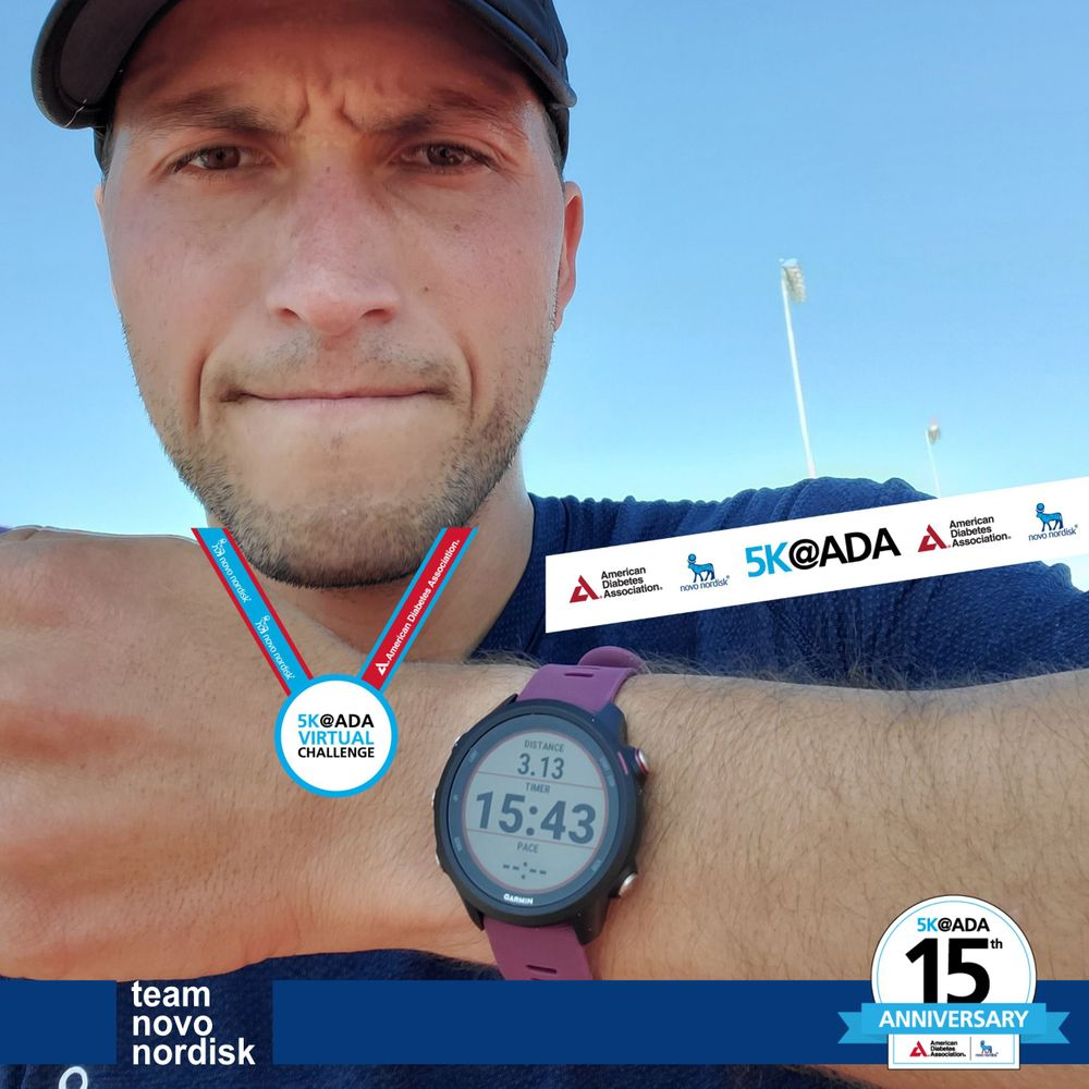 Thank you to @TeamNovoNordisk athletes, ambassadors and staff for leading by example and joining us for the 5K@ADA Virtual Challenge to support #ChangingDiabetes!  Thank you to @bennymadrigal for leading the way and posting the fastest time for the 15th Anniversary edition! https://t.co/jd3O9OLIen
