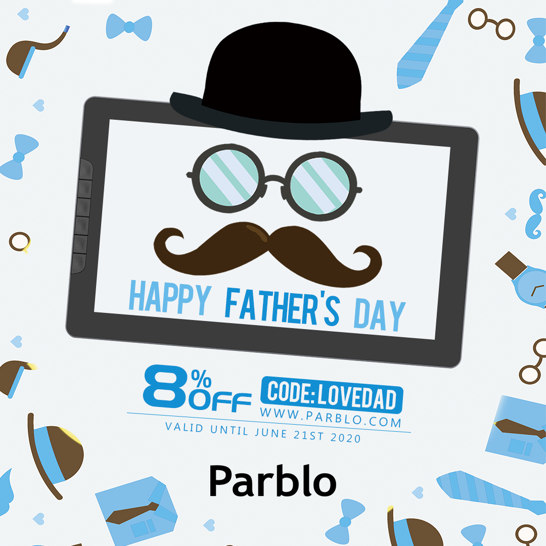 Get a drawing tablet at a great price for the best man in your life. Save 8% off on your entire order with code LOVEDAD.  BUY NOW >> https://t.co/MlVlU0LdMx #PARBLO #Fathersday https://t.co/FIBZwwCTck