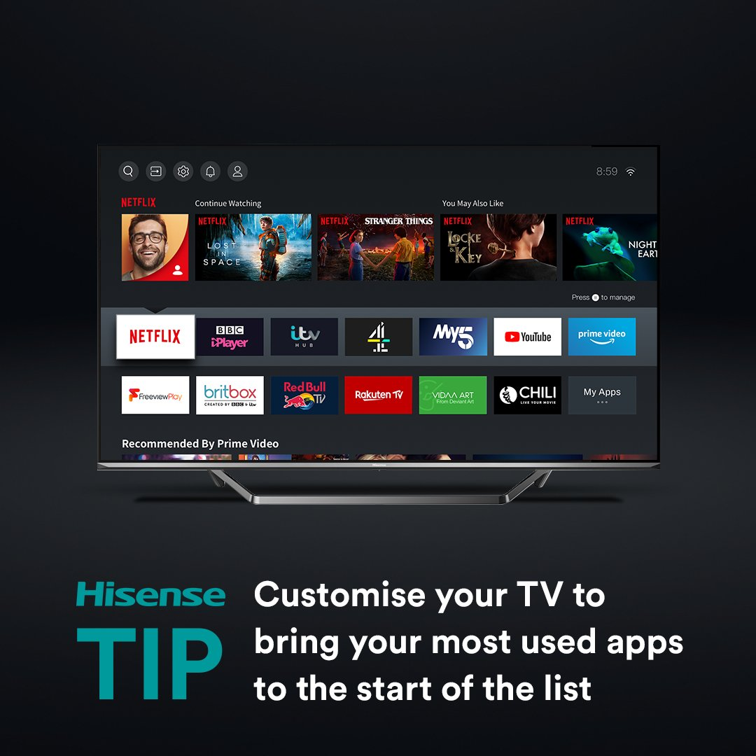 Get quicker access to your fave apps 👌  Check out the Hisense TV range 👉 https://t.co/yUWSakY2zk https://t.co/QGI4vUWInP