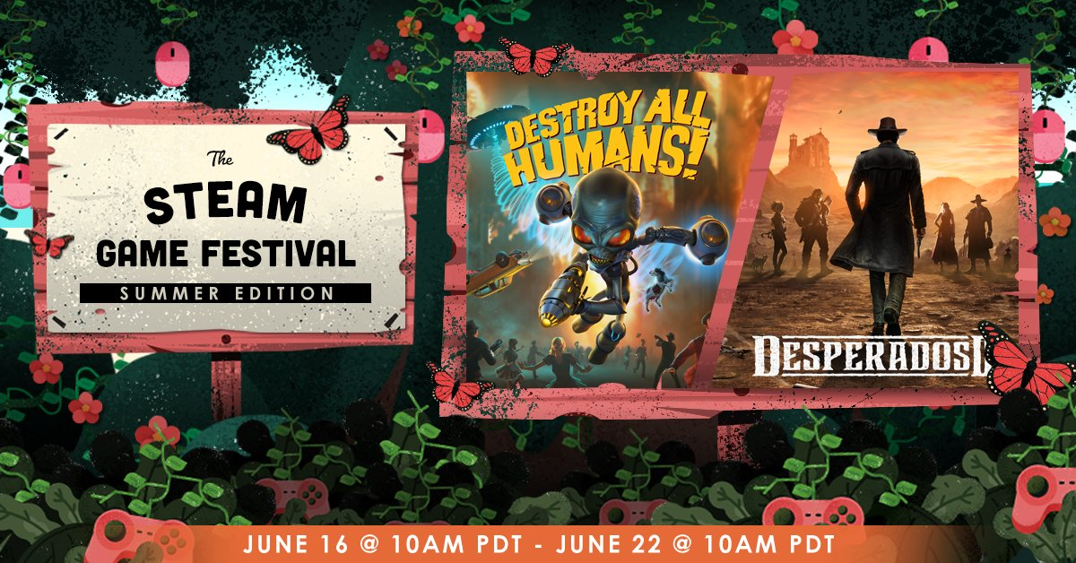 Thq Nordic On Twitter In Addition To Gogcom S Demos Of Desperados Iii And Destroy All Humans You Can Now Also Download Free Demos On Steam As Part Of The Steamgamefestival Desperados Iii