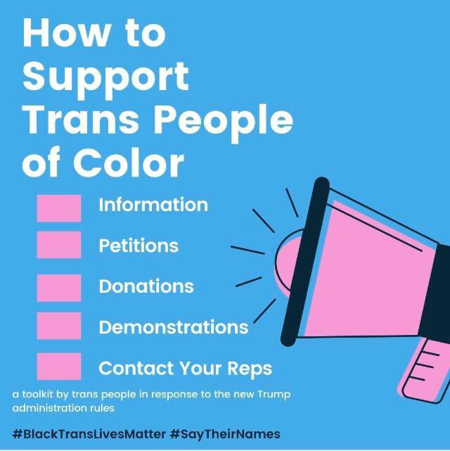 Find out how you can support trans people of color right now in our bio!