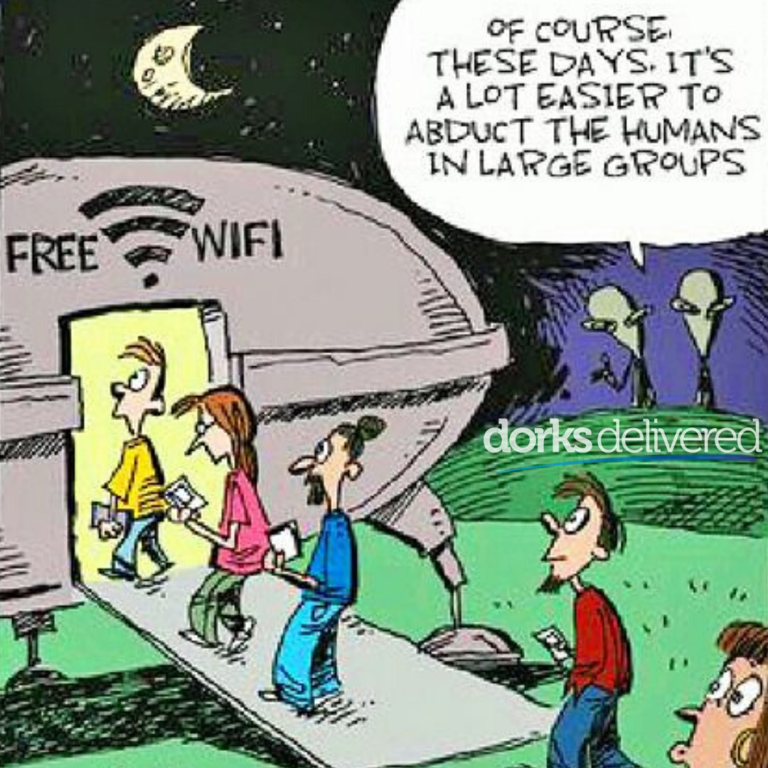 Free... it seldom is. RT @dorksdelivered: This is why we always say DON'T Connect to Free Wifi #freewifi #informationsecurity #cybersecurity #techmemes #wifimemes #funnytech #alienmemes #dorksdeliveredpic.twitter.com/ruAIhn8PD4