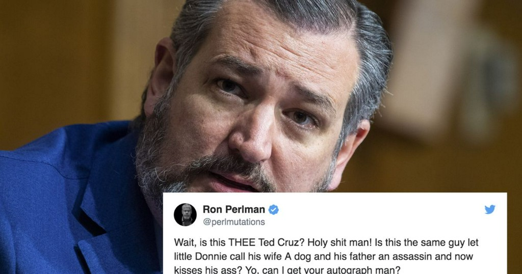 Ted Cruz and Ron Perlman are in a strange Twitter fight about ... wrestling?