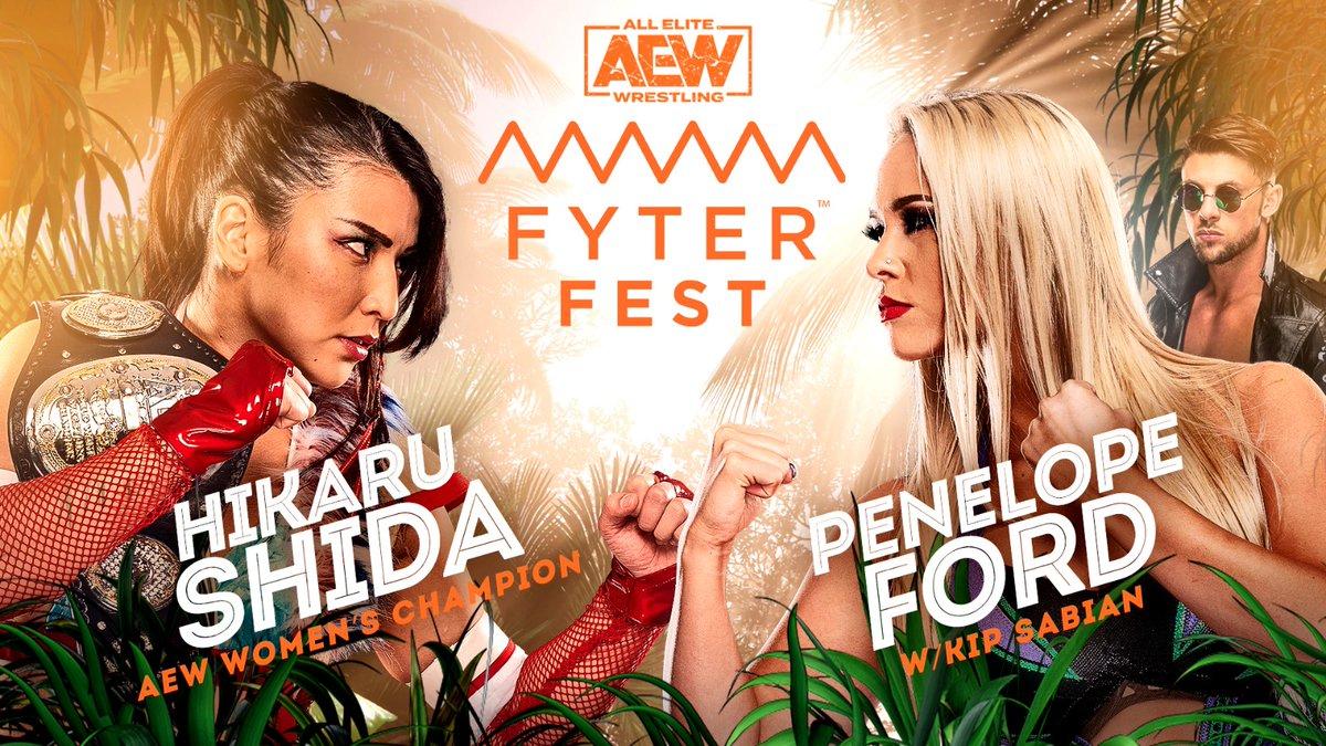 Hikaru Shida Vs. Penelope Ford Added To AEW Fyter Fest