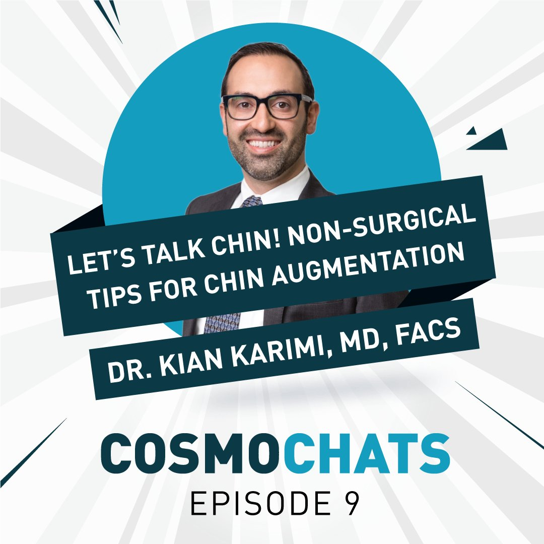 Head over to our Instagram account to watch episode 9 of CosmoChats with @KianKarimiMD! Today, Dr. Karimi is sharing his best tips for achieving great results with a non-surgical chin augmentation!  Watch now: https://t.co/TlO7uMMLUH https://t.co/kCWQPeH66k