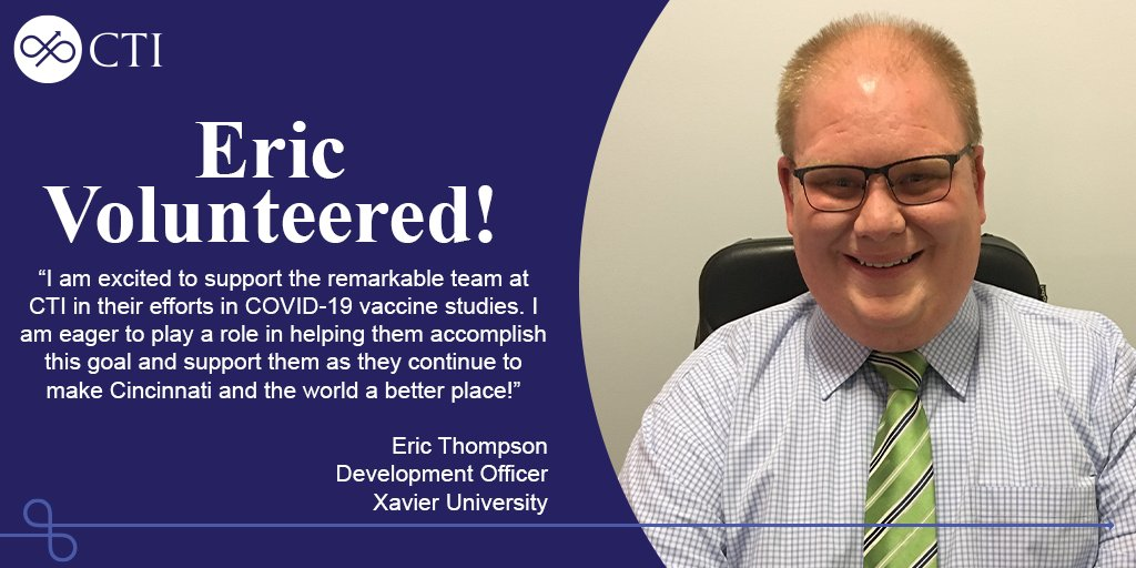 Thank you to Eric Thompson, Development Officer at Xavier University, for helping us get one step closer to bringing a COVID-19 vaccine to the public!  To find out more about our upcoming studies and to join Eric as a volunteer, visit https://t.co/MC08035sJ3 https://t.co/hz3rdpkayI
