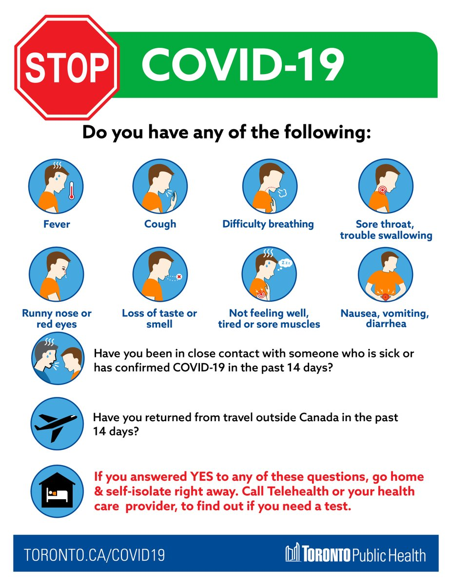 Toronto Public Health On Twitter As Child Care Centres Reopen A Screening Poster Like This One Will Be Displayed Completed Daily To Remind Parents To Monitor Themselves Their Children For