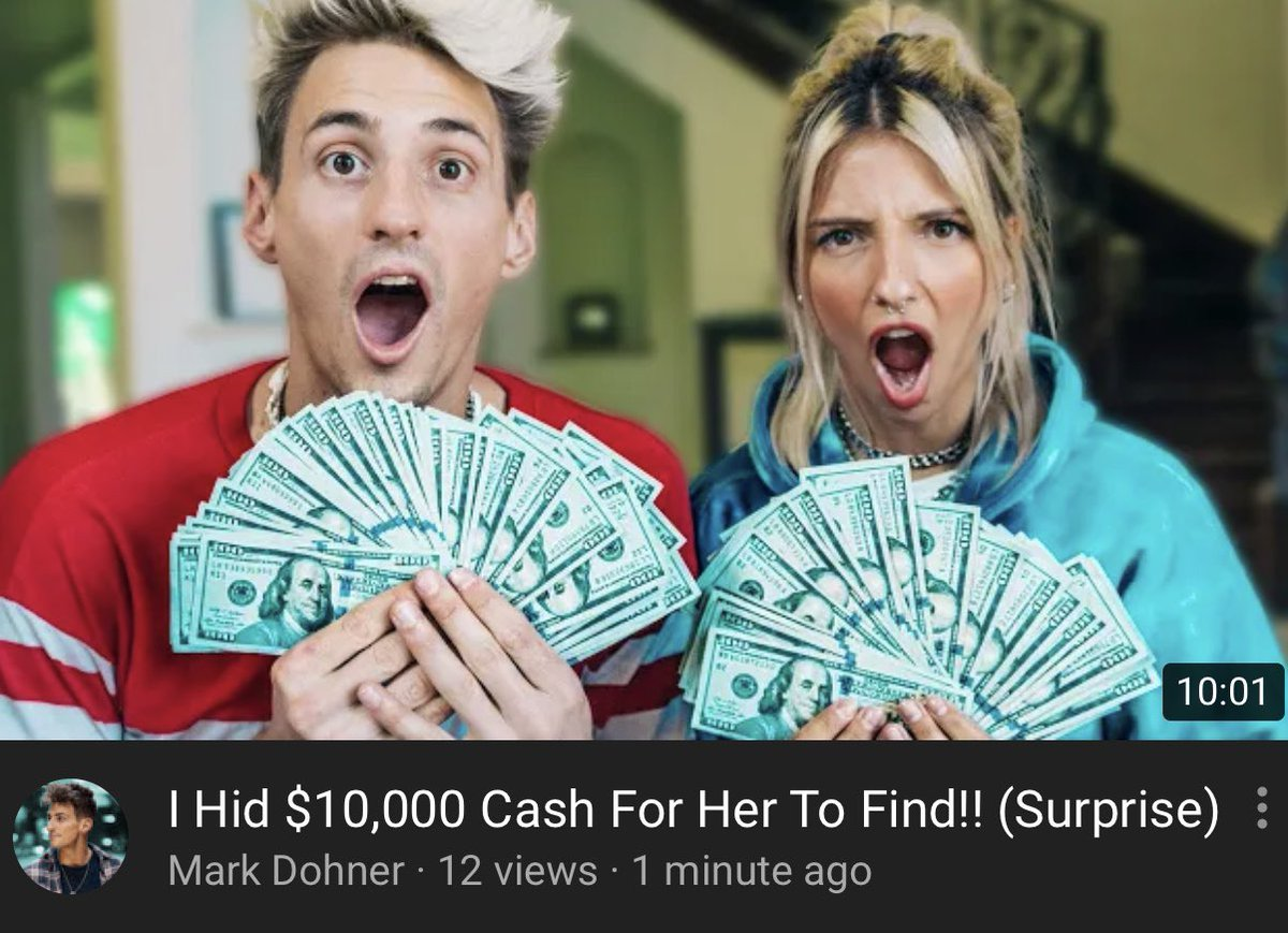 I hid $10,000 cash for my friend to find!! Go watch!! youtu.be/Opy1H7GS-9o