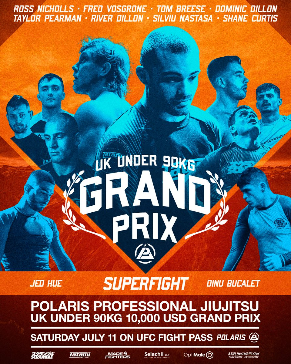Polaris 13 goes down on July 11th with an under 90kg tournament featuring some of the biggest names in UK grappling.  Polaris UK Grand Prix airs on @UFCFightPass on July 11.  @scramblebrandofficial @tatamifightwear @selachii @maxigarami @optimale.uk @made4fightersuk https://t.co/Pl0FC3BXjL