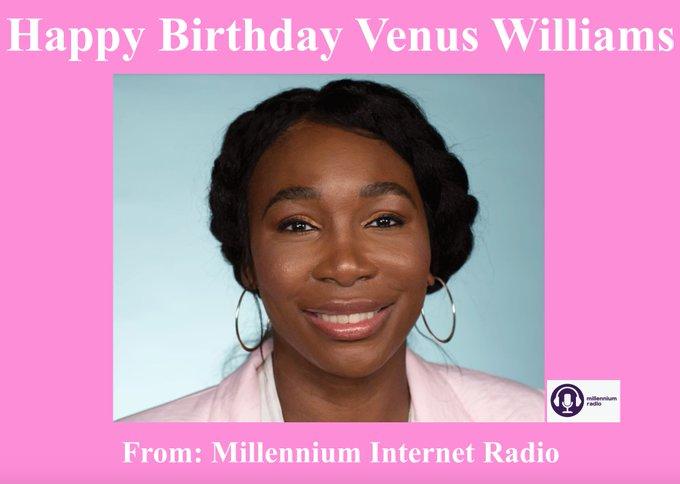 Happy Birthday to professional tennis player Venus Williams!!