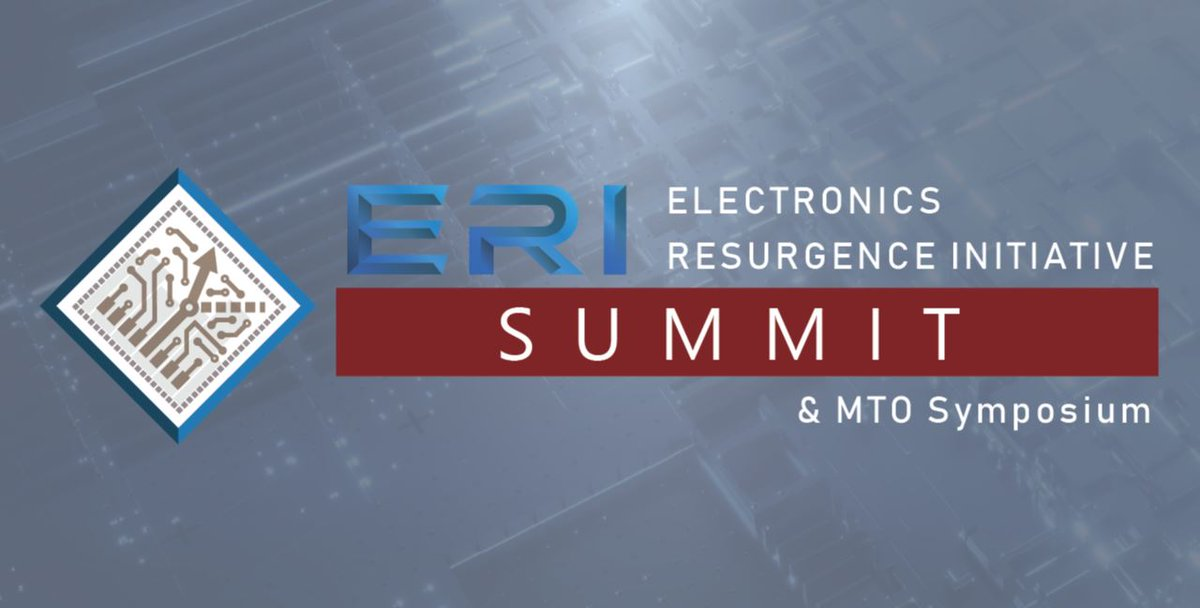 Our third-annual ERI Summit kicks-off 8/18 and this year we're going virtual! Hear about the latest milestones in microelectronics advancement w/ keynotes from the CEOs of @Microsoft, @Arm, and @awscloud, in addition to the @DoDCTO. Register today at: https://t.co/XiOsMKWZ2h https://t.co/yJ7JFMdkzY