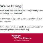 Image for the Tweet beginning: We're hiring part- & full-time