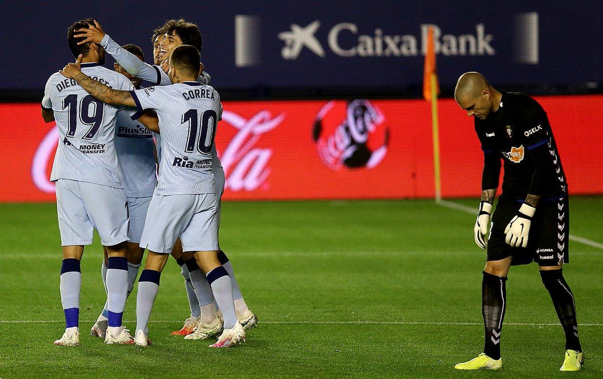 Xem lại Osasuna vs Atletico Madrid Highlights, La Liga – 18/06/2020