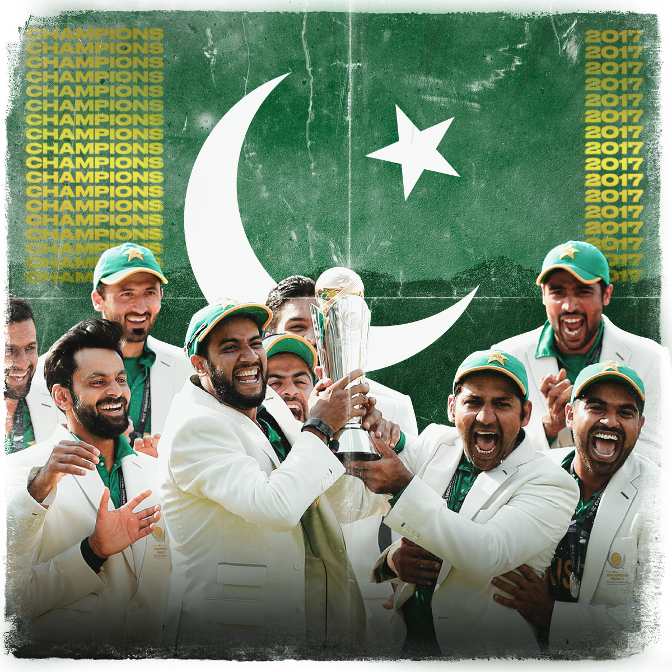#OnThisDay in 2017, Pakistan stunned India to lift the ICC Champions Trophy at the Oval 🏆   They won by 180 runs, bowling out 🇮🇳 for just 158!  #CT17 https://t.co/cAXmLMxiHb