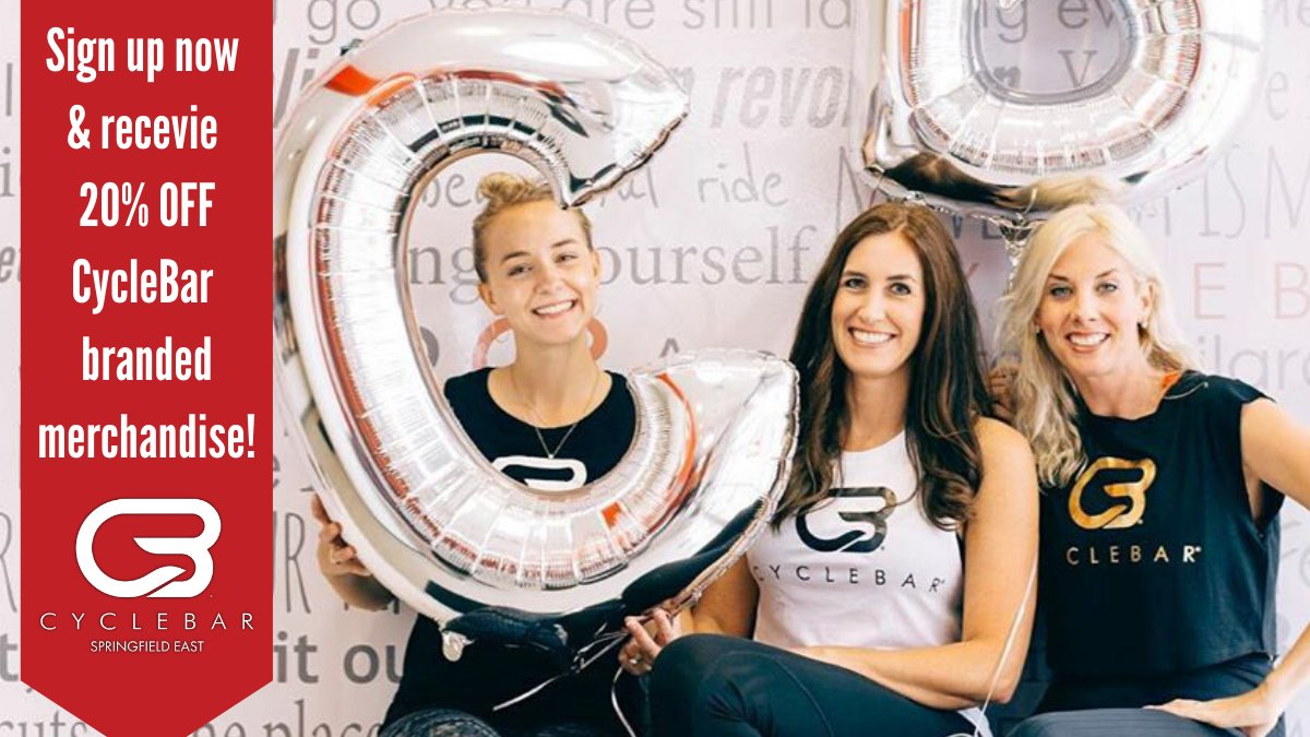 Want some sweet discounted CycleBar swag? Sign up now for the Founders Member package and receive 20% off in-studio retail for the LIFEtime of your membership. #CycleBar #Cycling #Fitness #Workout #SpringfieldFitLife #CycleBarSGF<br>http://pic.twitter.com/SIZ9cJzQJX