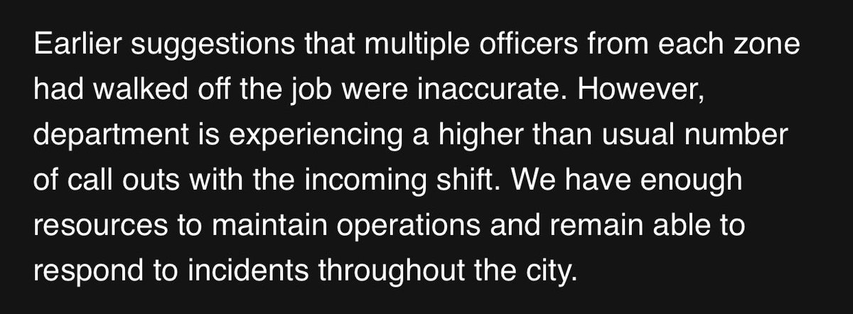 Official statement from #AtlantaPD on reports of #AtlantaBlueFlu