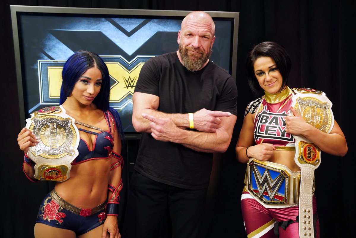 Triple H Thanks Bayley & Sasha Banks After WWE NXT, Io Shirai Sends Message After Attack (Videos)