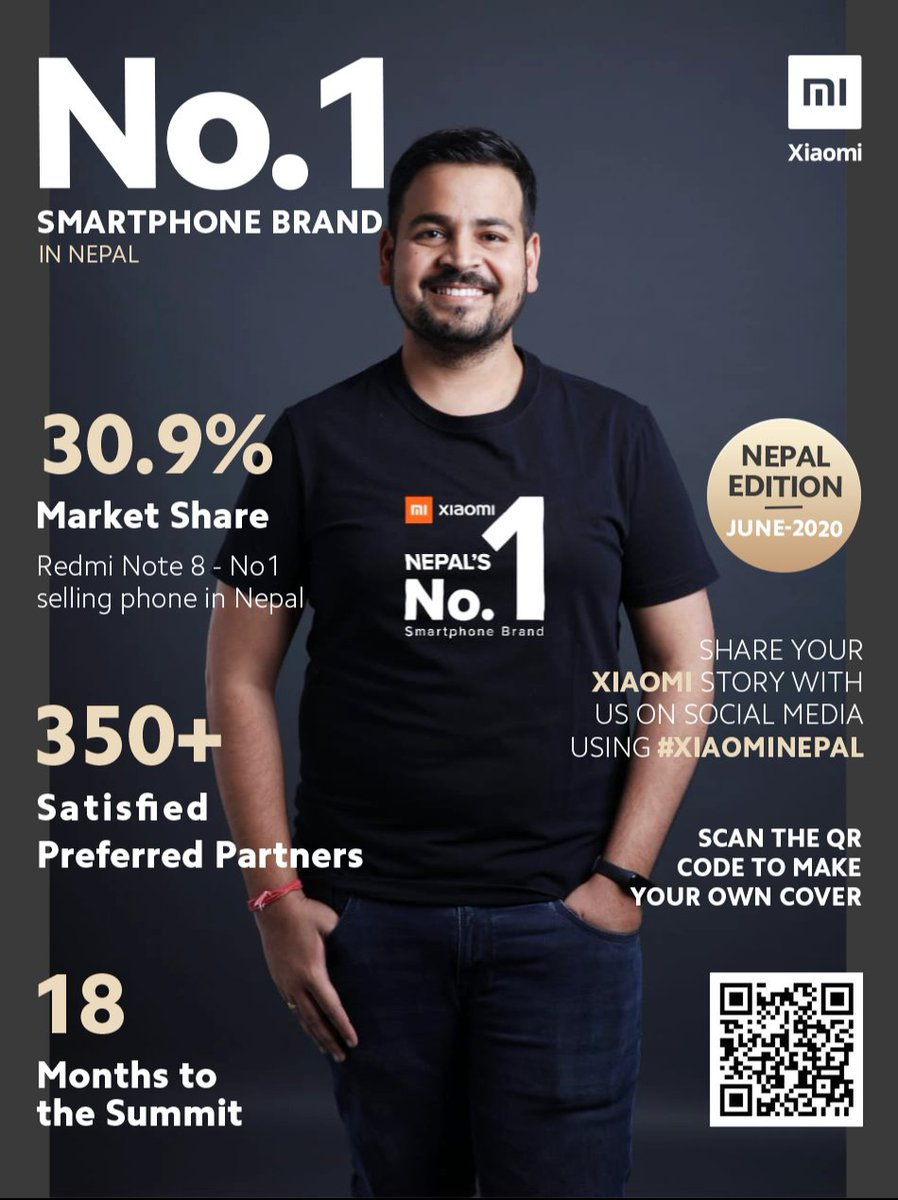 Mi fans,  Here is the #MagazineCoverChallenge for you to win BIG!  Go to https://bit.ly/Xiaomi_No1 Upload your pic Make your own cover  Share with #1SmartphonebrandNepal & #ILoveXiaomi  One lucky Mi fan to win a brand new #RedmiNote9Pro.  *T&C Applypic.twitter.com/EqgvYnwXx6