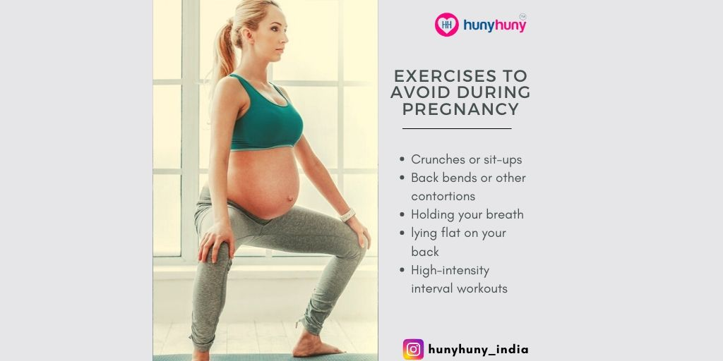 There are some exercises or activities that may cause injury or other problems for you or your baby. Find out what they are so you can avoid them during pregnancy.    #pregnancyexercise #avoidexercise #injury #pregnancyfacts #hunyhunymoms #followhunyhunypic.twitter.com/AegJEldMU7