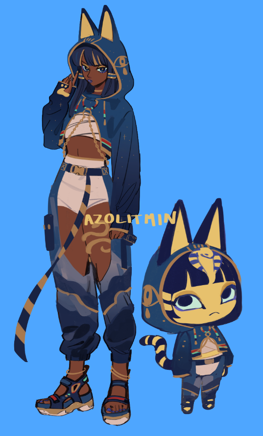 oof I really struggled drawing ankha in this outfit LOL #acnh