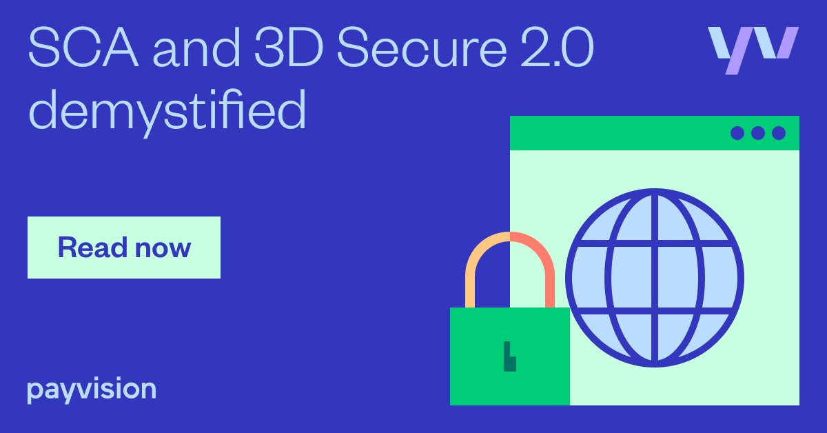 Make sure your business isn't left hanging when it comes to the new Strong Customer Authentication (SCA) and 3D Secure 2.0 requirements.👉https://t.co/ZS6gODOnpV  #PSD2 #SCA #3DSecure https://t.co/z5JXzJbmcW