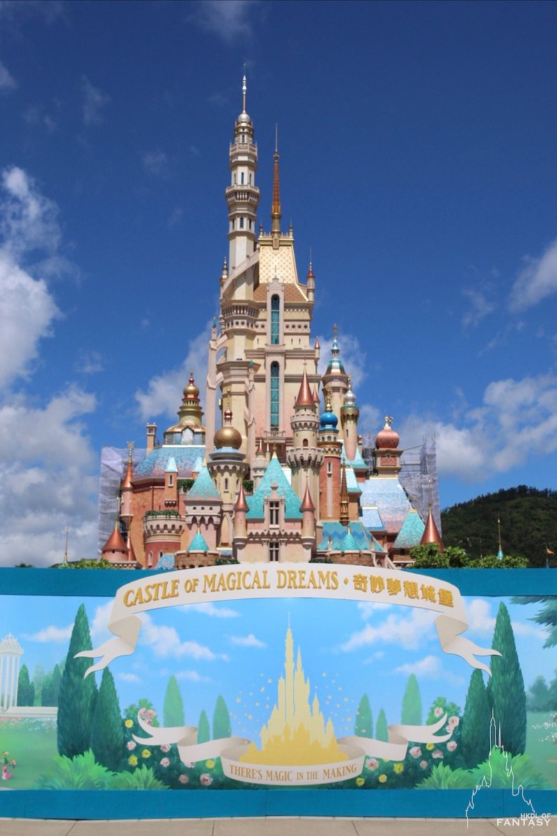 "DLP Report on Twitter: ""Hong Kong Disneyland has reopened today, the second  Disney Park to welcome back Guests who get to see the almost ready""Castle  of Magical Dreams"", check the Frozen Land"