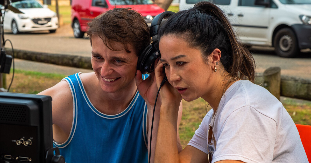 Triple threat @adambowes93 co-wrote, co-directed, & takes the lead role in his short film Diving In. Ahead of its World Premiere in @sydfilmfest's #Screenability Program, we spoke to Adam about making the film: https://t.co/vAYV1fvKoa  📷 Adam Bowes & @ninaoyama. https://t.co/VLazZi40Jp